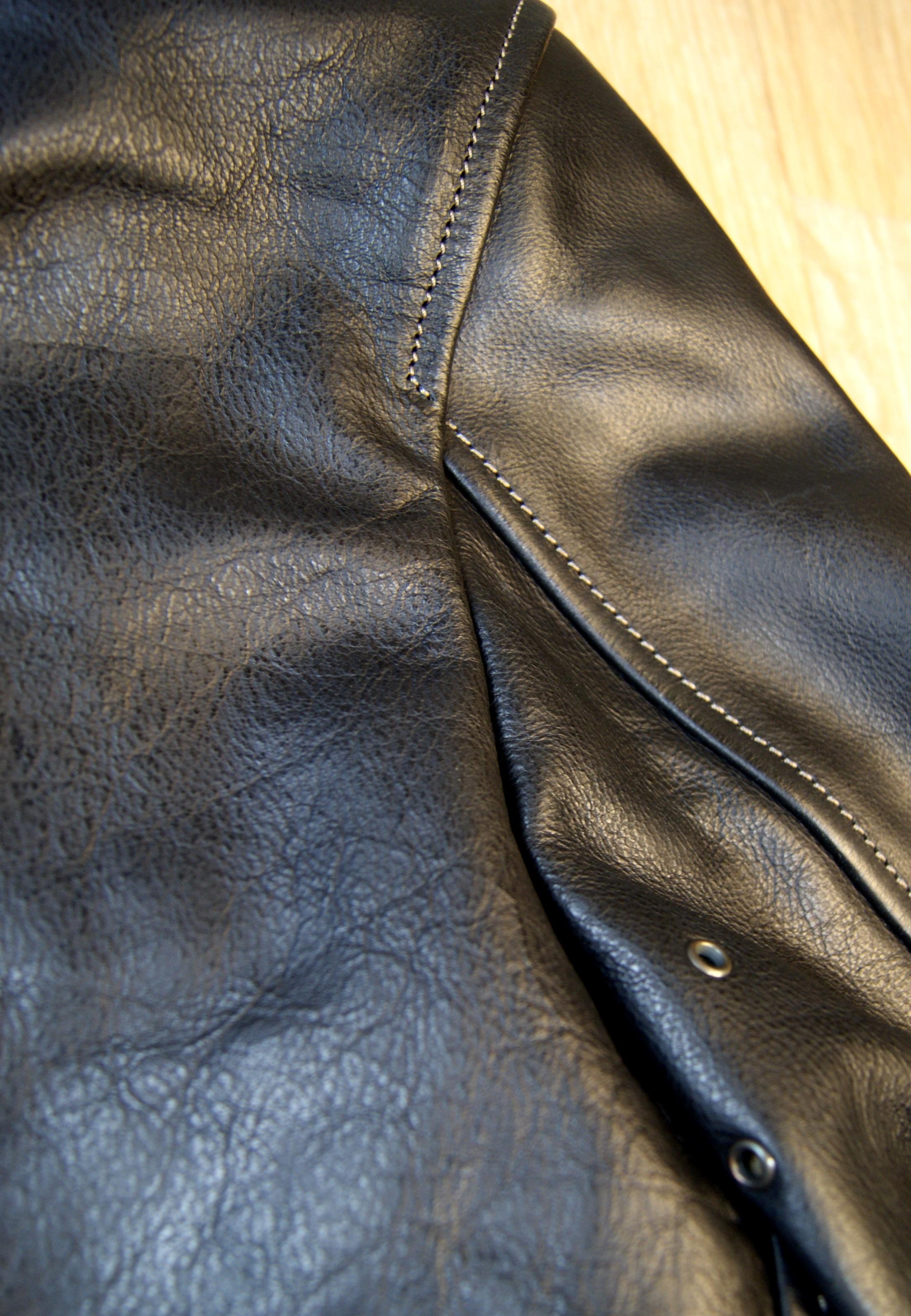 Thedi Shawl Collar Black Buffalo THS10 shoulder back.jpg