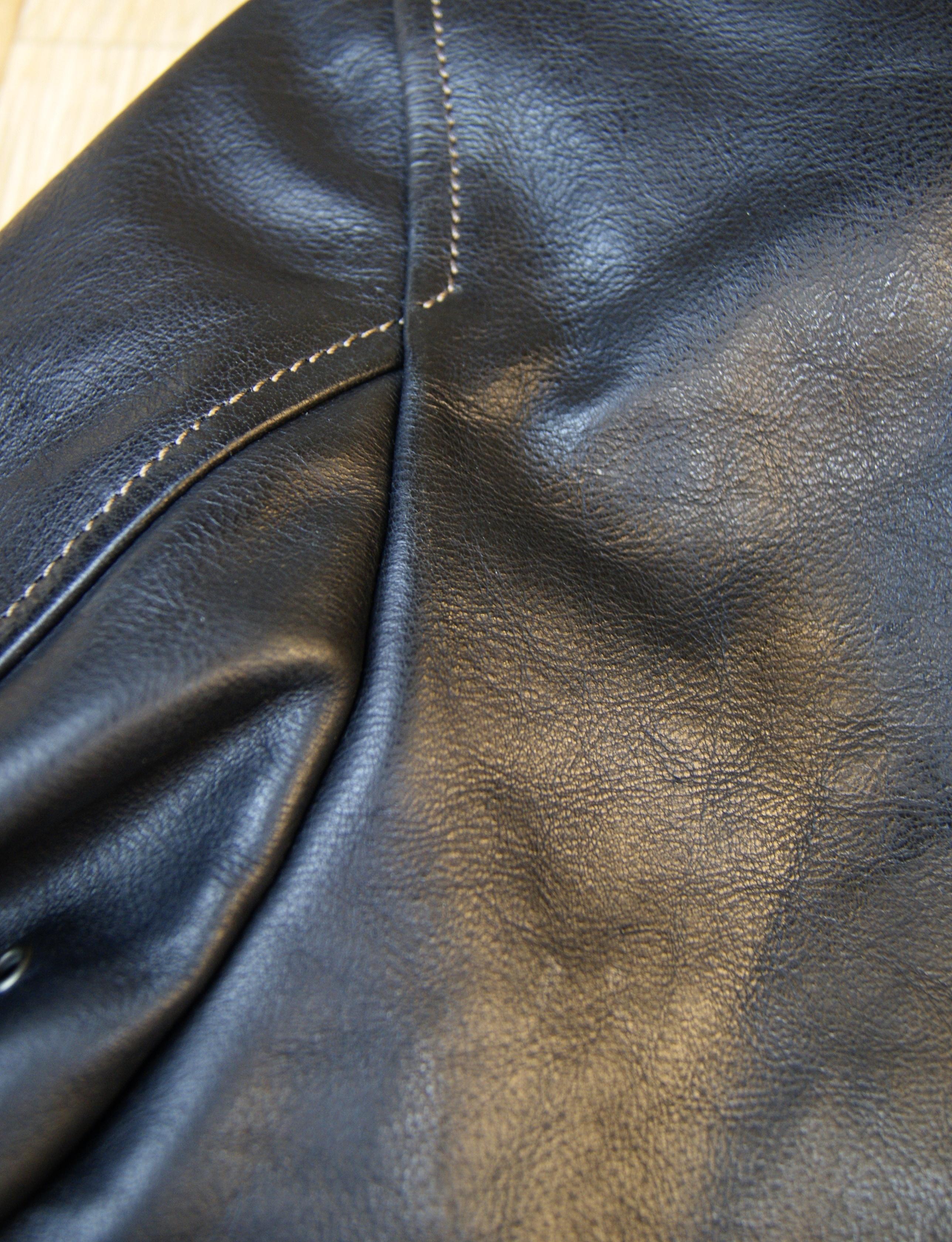 Thedi Shawl Collar Black Buffalo THS9 back seam.jpg