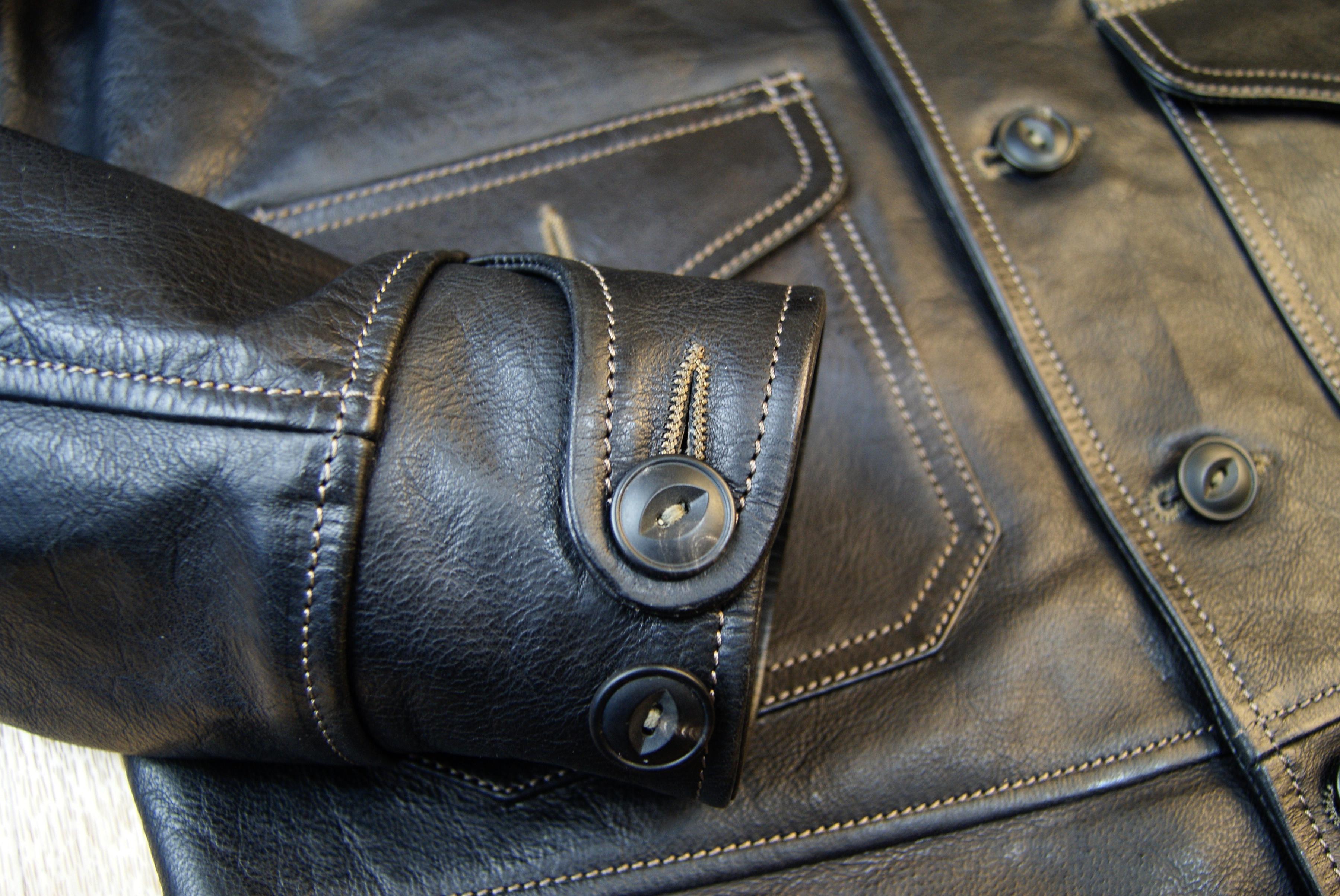 Thedi Shawl Collar Black Buffalo THS9 cuff.jpg