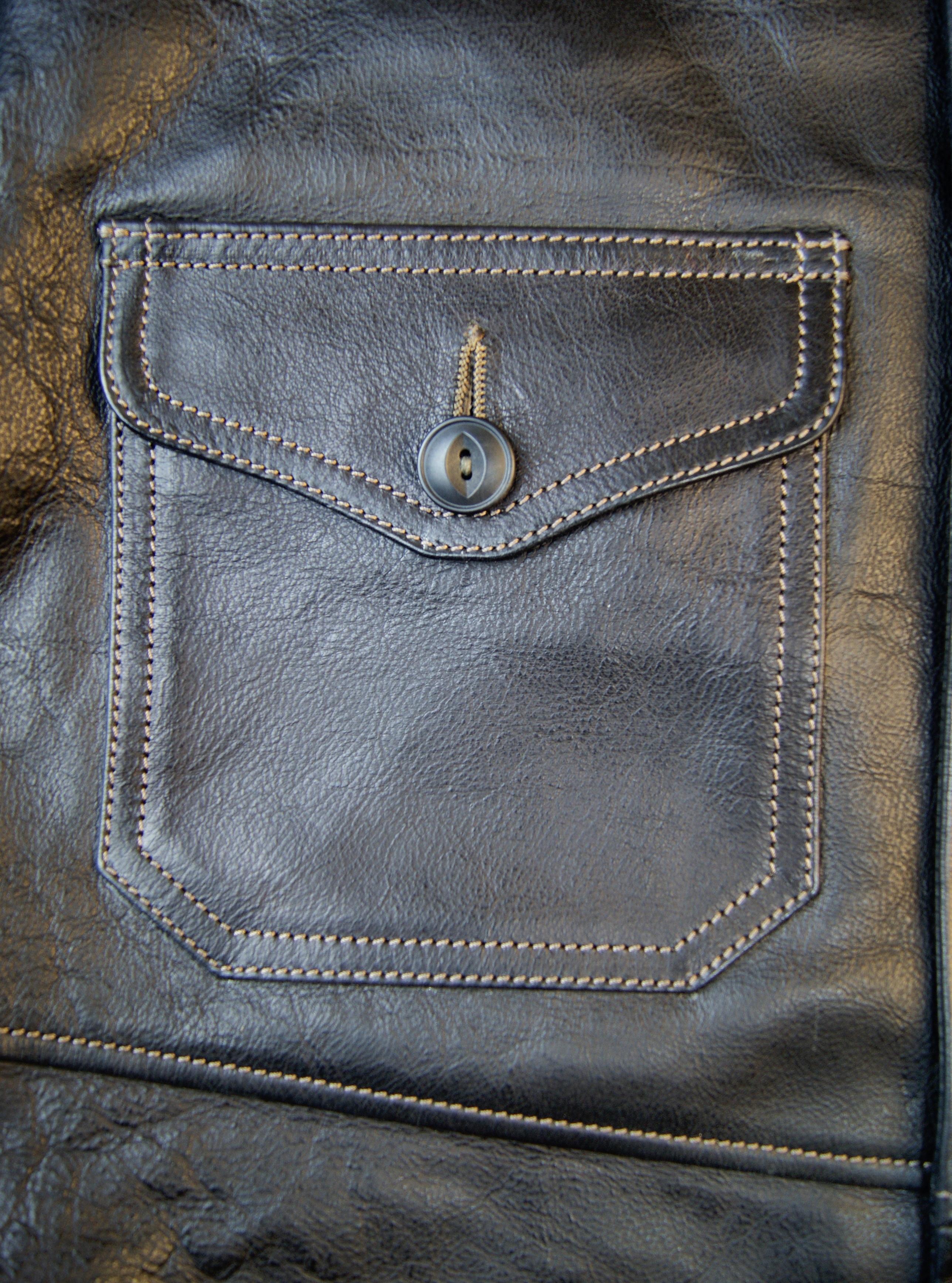 Thedi Shawl Collar Black Buffalo THS9 patch pocket.jpg