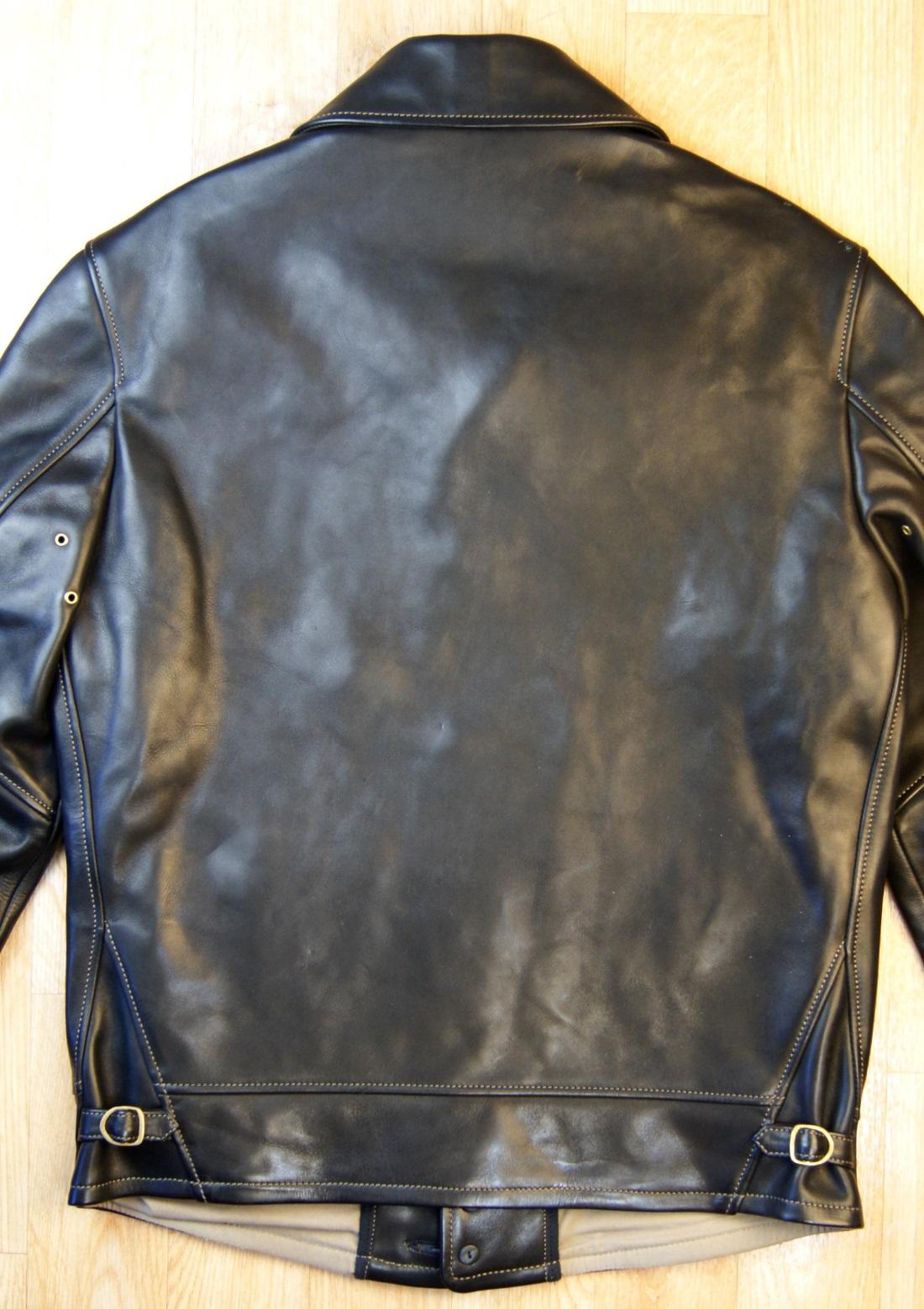 Thedi Shawl Collar Black Cowhide THS5 back.jpg