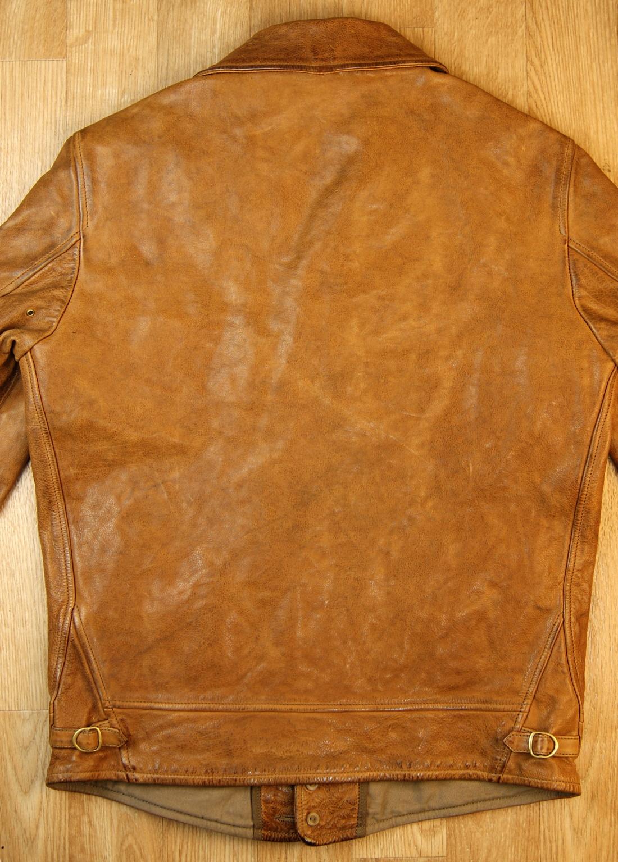 Thedi Shawl Collar Button-Up Washed Cuoio Buffalo CN1 back.jpg