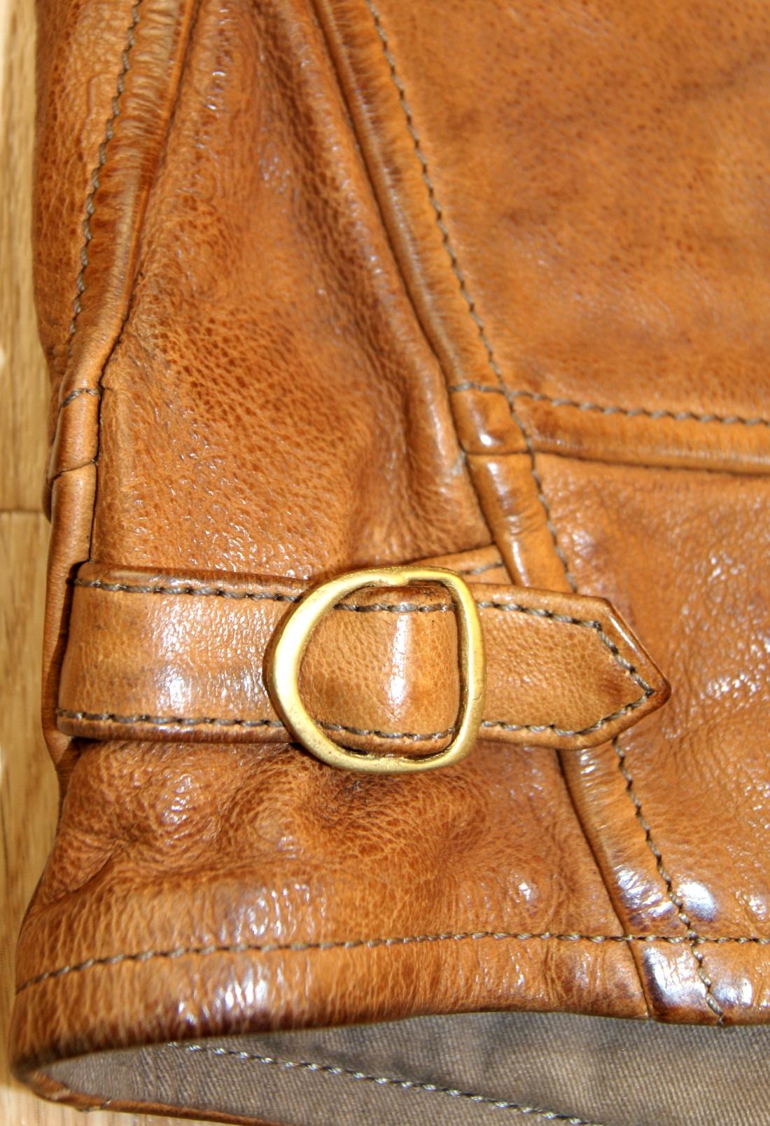 Thedi Shawl Collar Button-Up Washed Cuoio Buffalo CN1 side strap.jpg