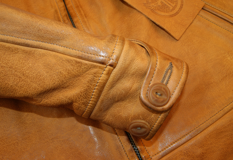 Thedi Zip-Up Shawl Women's Jacket Washed Cuoio Buffalo cuff.jpg