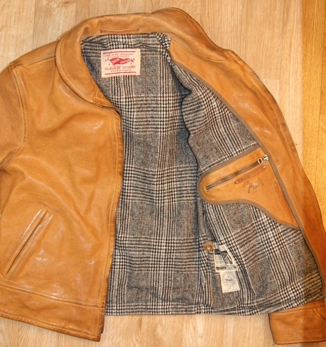 Thedi Zip-Up Shawl Women's Jacket Washed Cuoio Buffalo wool lining.jpg