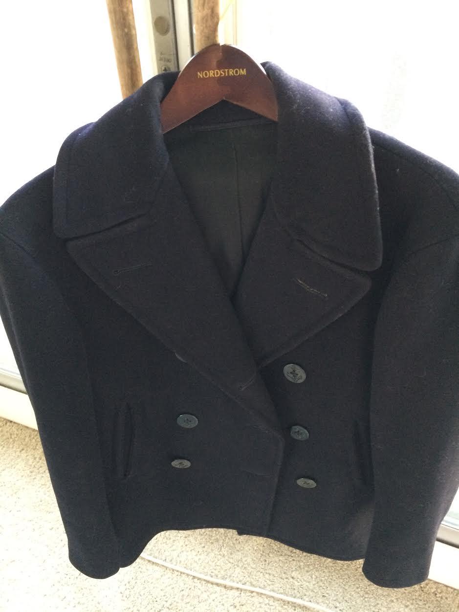 ef5862073c8 1962 American Navy Vintage Kersey Wool Peacoat 38R