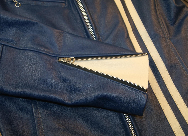 Vanson custom Comet Blue sleeve zip.jpg