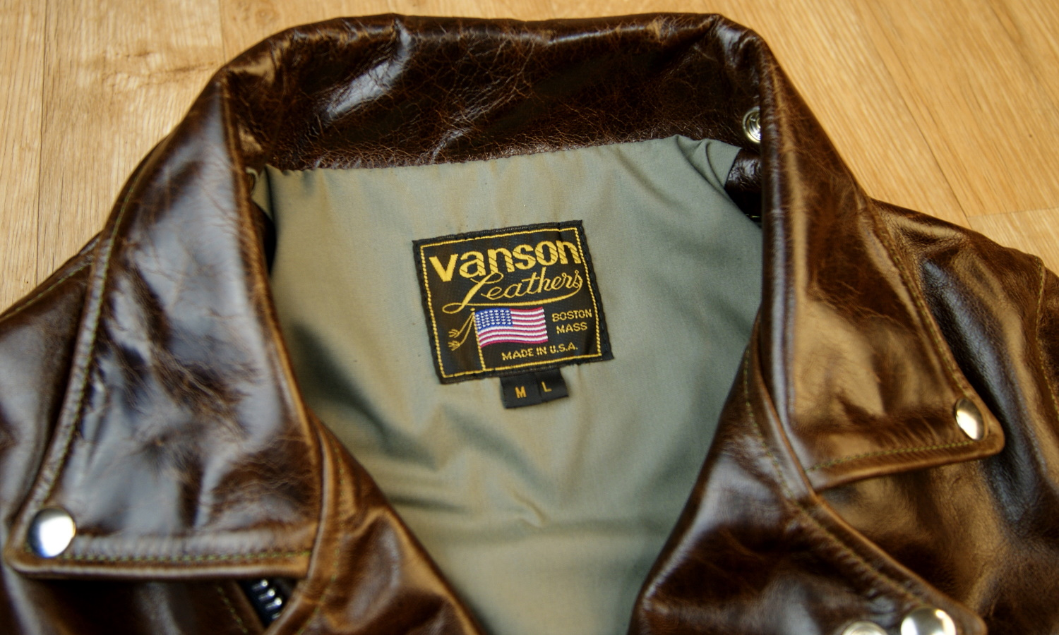 Vanson Daredevil Bainbridge ML with Olive Tan Lining Tag.jpg
