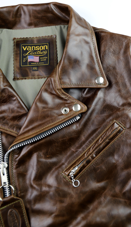 Vanson Daredevil XXL Dark Maple Bainbridge M89 Chest Pocket.jpg