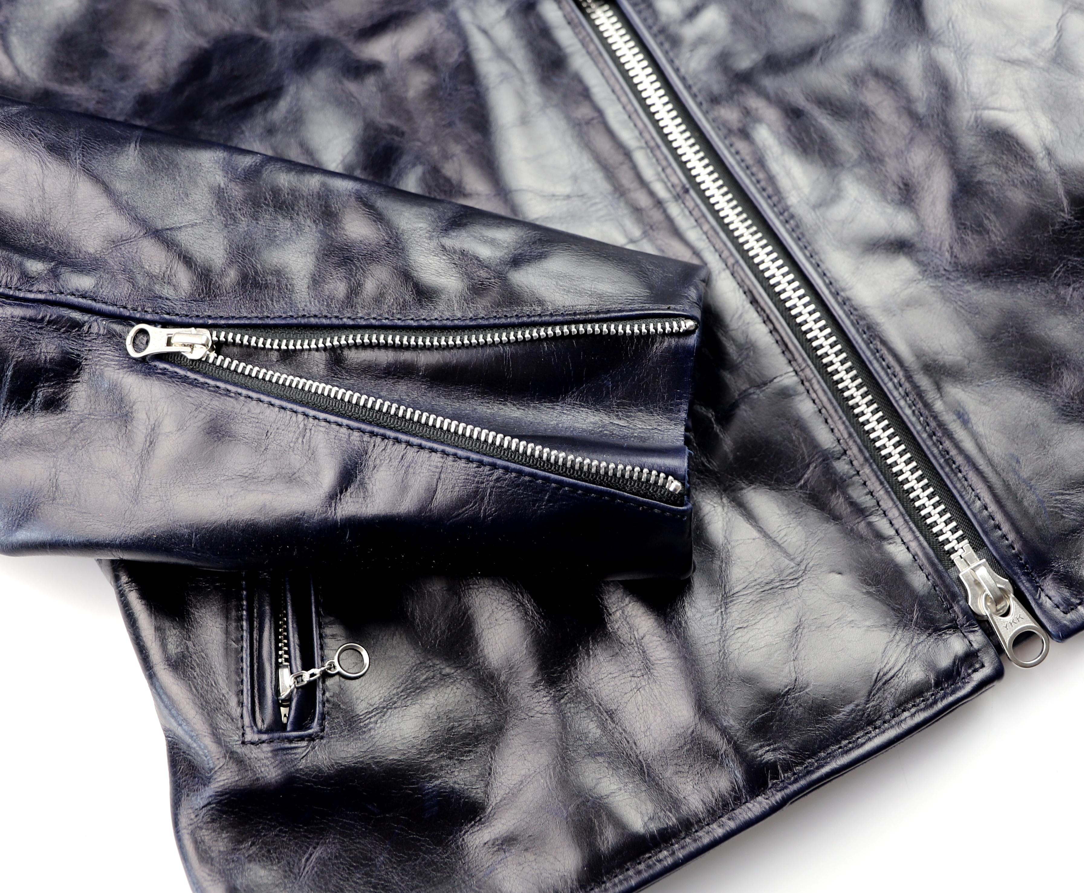 Vanson Oxford Abyss Blue Bainbridge TG5 sleeve zipper.jpg