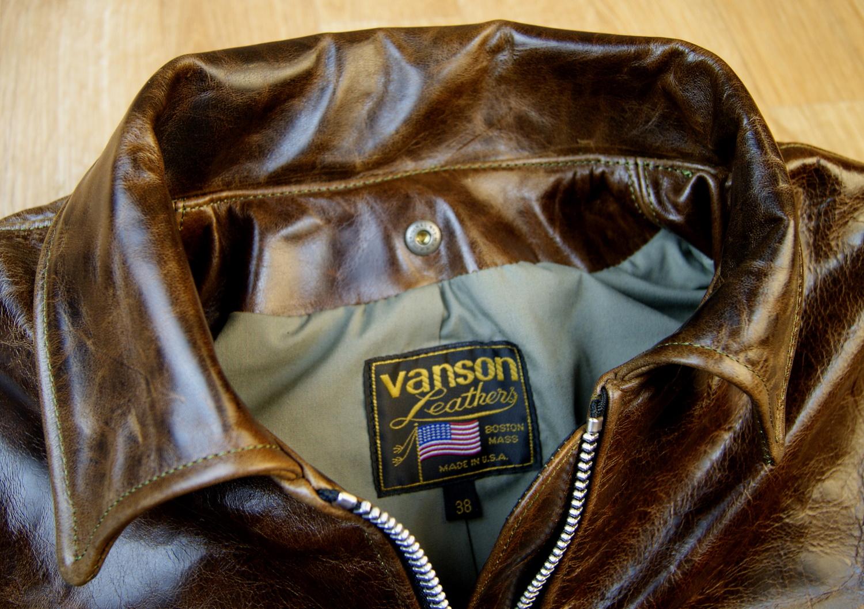 Vanson Oxford Dark Maple Bainbridge 38GV collar.jpg