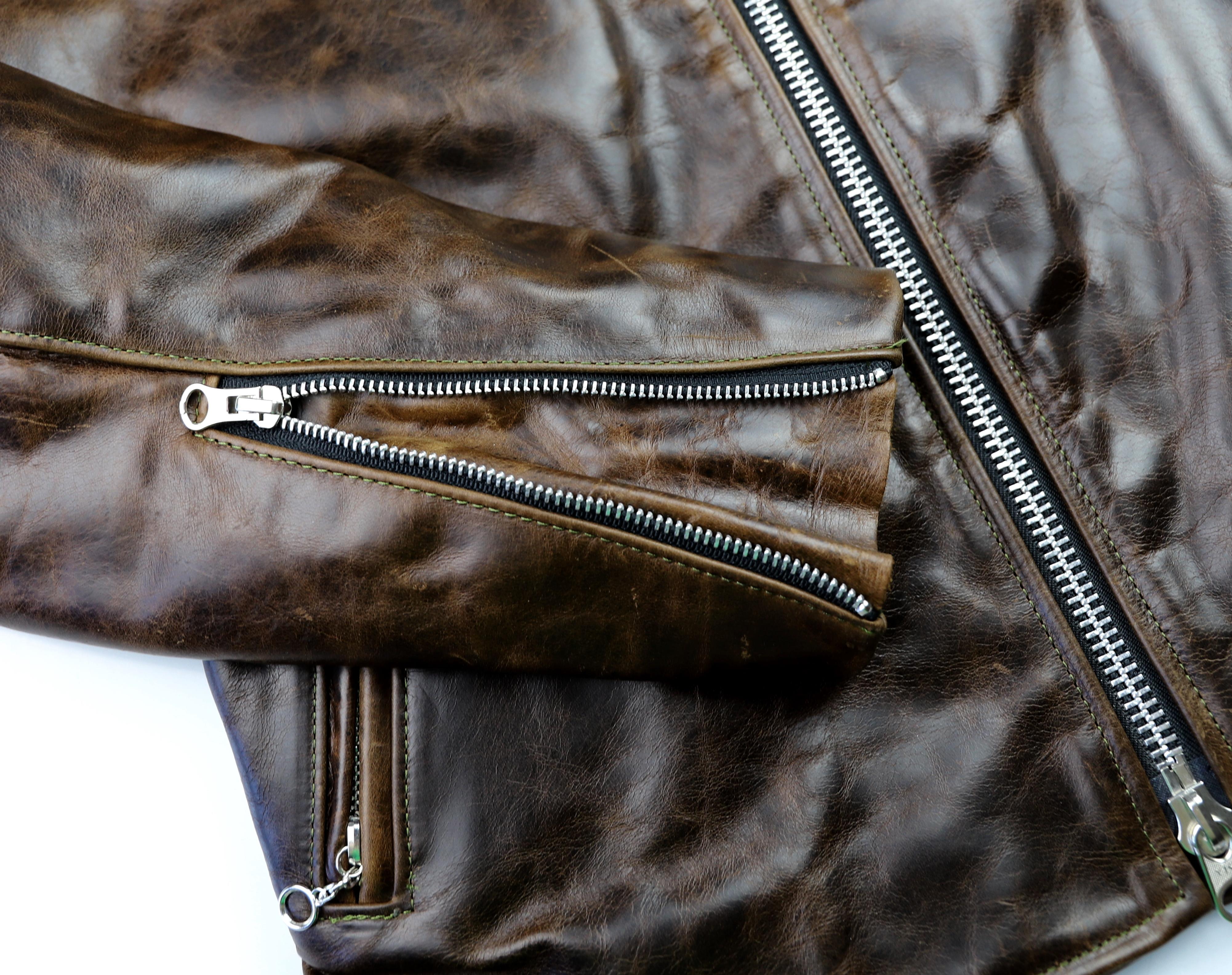 Vanson Oxford Dark Maple Bainbridge 38NHY sleeve zipper.jpg