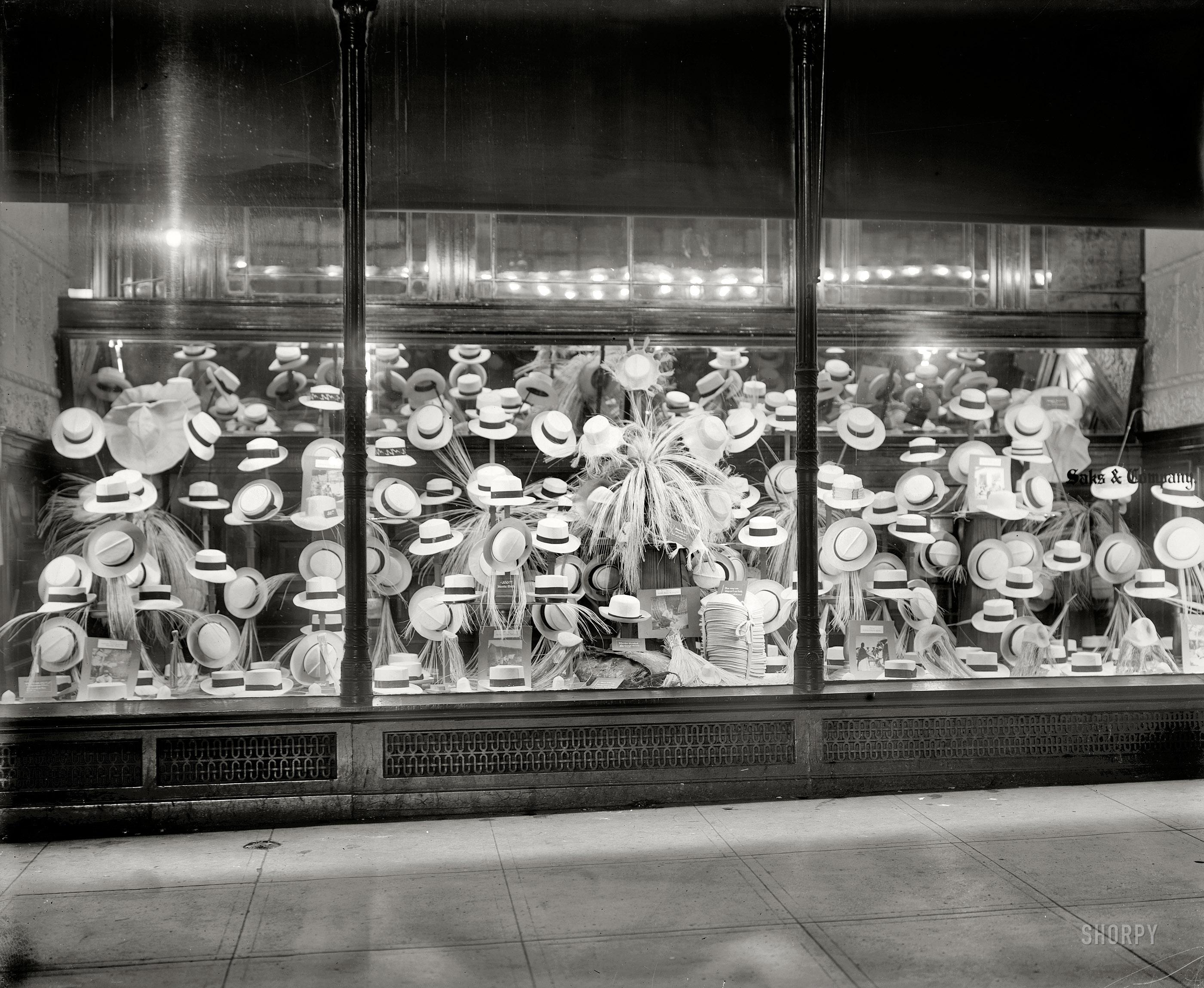 Washington, DC, circa 1919,Saks and Co Panama hats.jpg