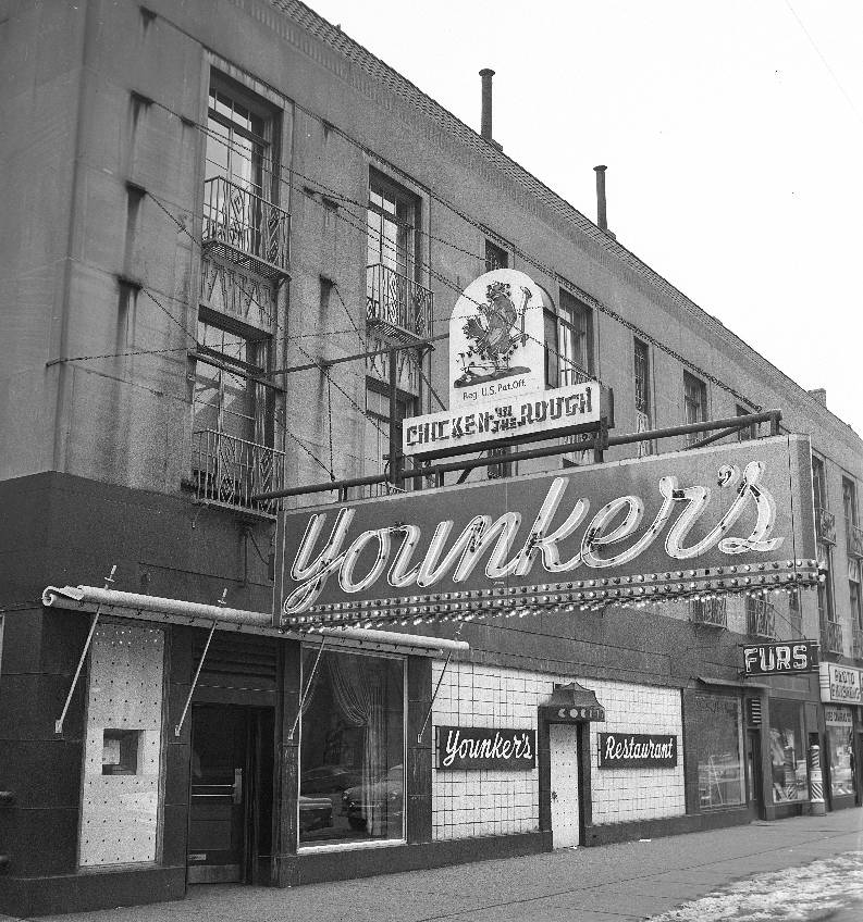 x-photo-chicago-younkers-restaurant-chicken-in-the-rough-street-signs-b-and-w.jpg