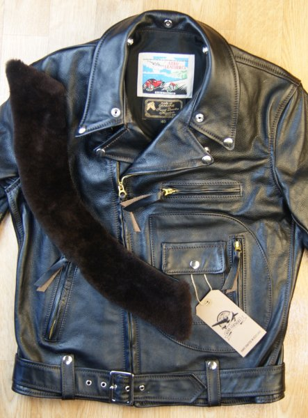 Aero Daytona Ridley Blackened Brown Vicenza Dark Brown fur collar front 2.jpg