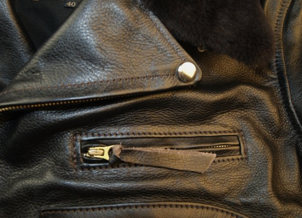 Aero Daytona Ridley Blackened Brown Vicenza Dark Brown fur collar chest pocket.jpg